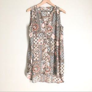 SPENSE floral and paisley sleeveless dress